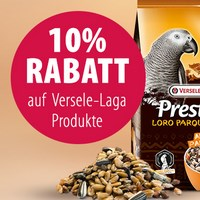 Zooplus: 10% Rabatt auf Vogelfutter von Versele Laga