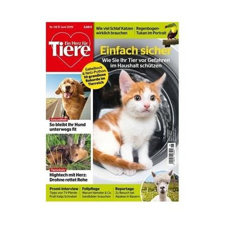 Ein Herz für Tiere als Jahresabonnement (12 Ausgaben) für effektiv 12,32€